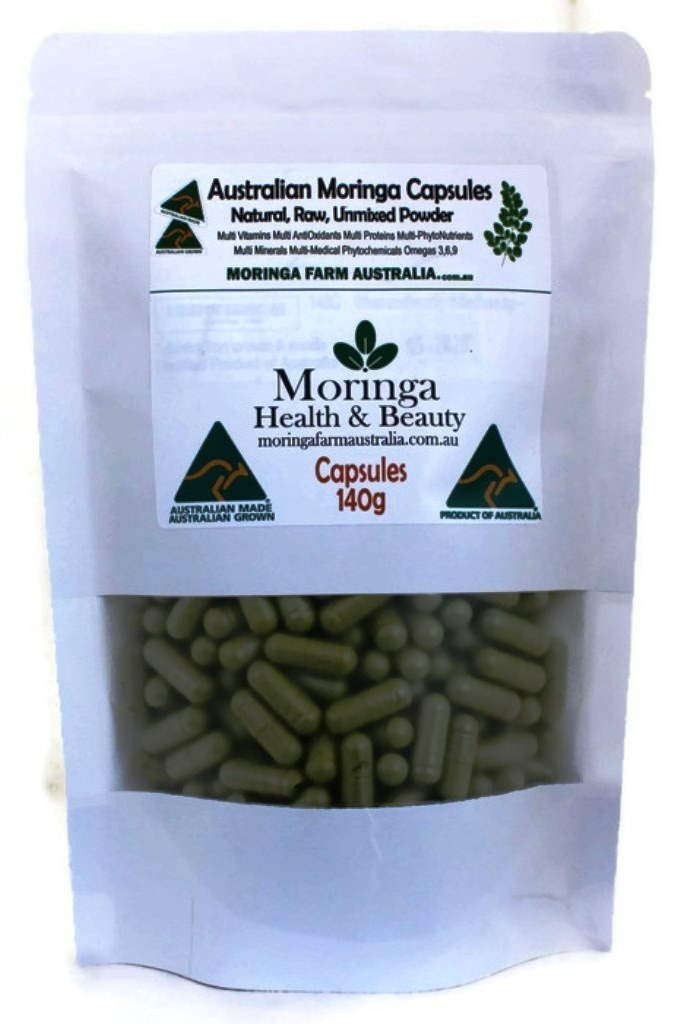 Moringa Powder in Vegetable Capsules 140G
